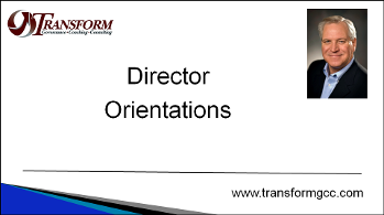 Director orientations, Director training