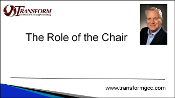 governance, Role of the Board Chair